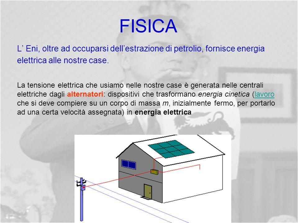 FISICA L Eni, oltre ad occuparsi dellestrazione di petrolio, fornisce energia elettrica alle nostre case.