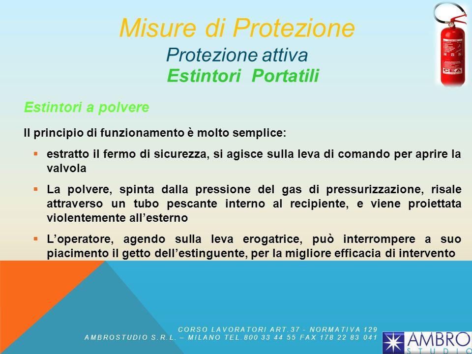 Estintori Portatili Estintori a polvere Il più economico, diffuso e di uso universale è lestintore a pressurizzazione permanente, costituito da un sol