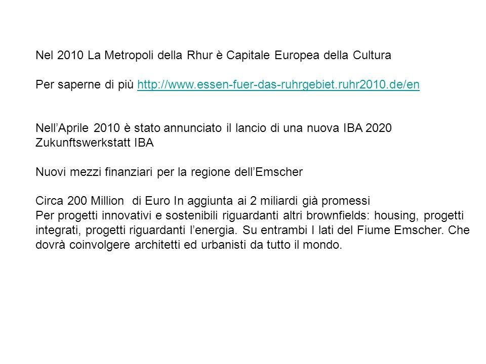Nel 2010 La Metropoli della Rhur è Capitale Europea della Cultura Per saperne di più http://www.essen-fuer-das-ruhrgebiet.ruhr2010.de/enhttp://www.ess