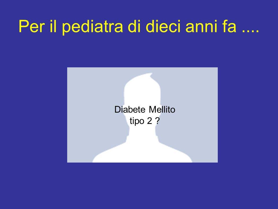 Per il pediatra di dieci anni fa.... Diabete Mellito tipo 2 ?