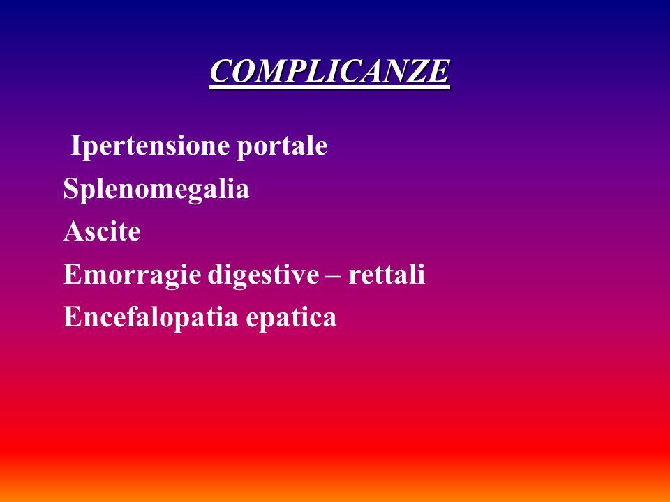 Altre complicanze Ittero Dificit di coagulazione Edemi Astenia Febbre e infezioni Nausea e vomito Teleangectasie