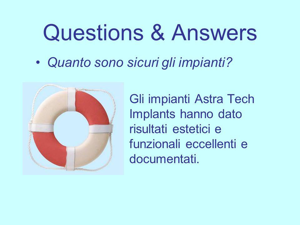 Questions & Answers Quanto sono sicuri gli impianti? Gli impianti Astra Tech Implants hanno dato risultati estetici e funzionali eccellenti e document