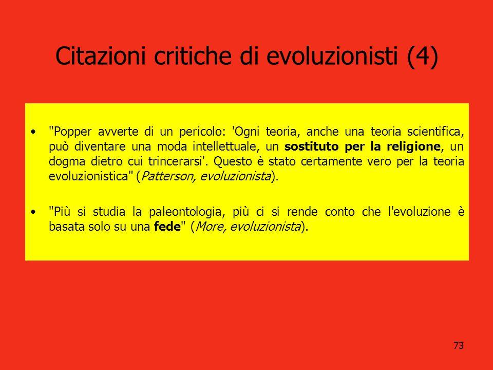 73 Citazioni critiche di evoluzionisti (4)
