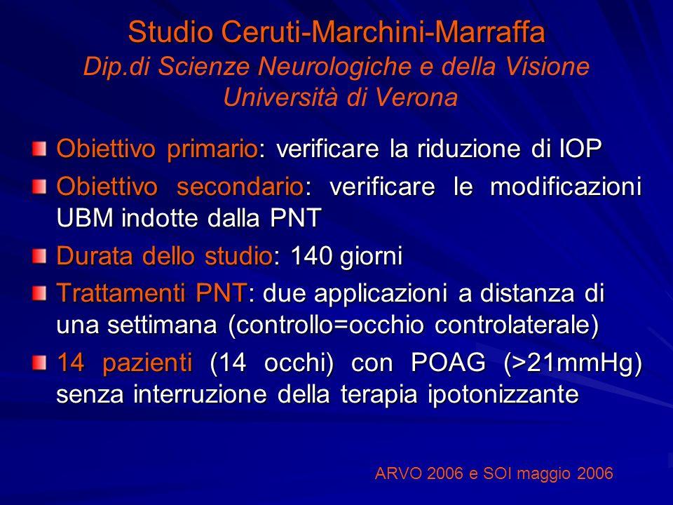 Studio Ceruti-Marchini-Marraffa Studio Ceruti-Marchini-Marraffa Dip.di Scienze Neurologiche e della Visione Università di Verona Obiettivo primario: v
