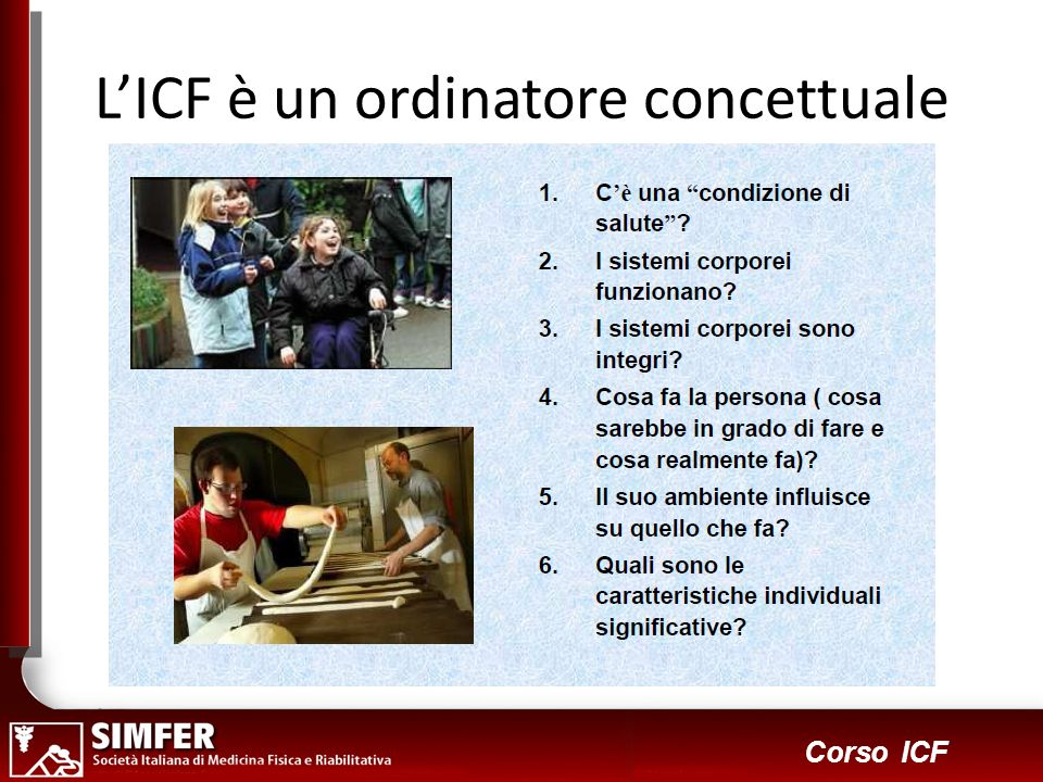 5 Corso ICF LICF è un ordinatore concettuale