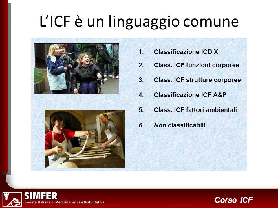 18 Corso ICF Scegliere un insieme di codici per creare un profilo di funzionamento per lindividuo...