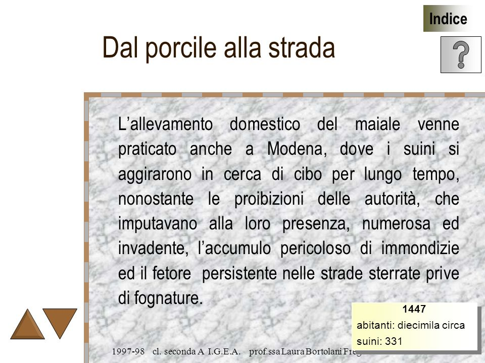 laura.bortolani@sincretech.it Indice 1997-98 cl. seconda A I.G.E.A.
