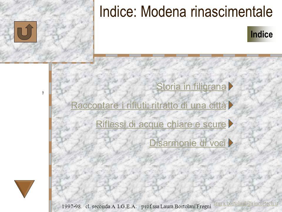 Caratteristiche Specifiche Prezzi laura.bortolani@sincretech.it Indice 1997-98 cl.