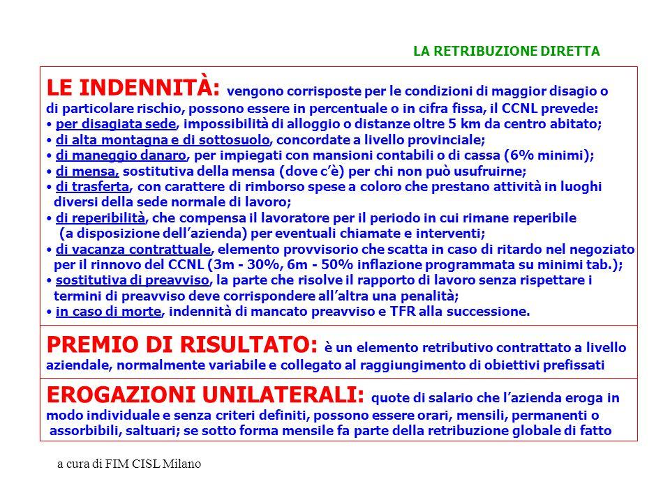 a cura di FIM CISL Milano PREMIO DI RISULTATO: è un elemento retributivo contrattato a livello aziendale, normalmente variabile e collegato al raggiun
