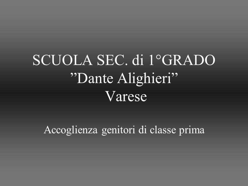 SCUOLA SEC. di 1°GRADO Dante Alighieri Varese Accoglienza genitori di classe prima