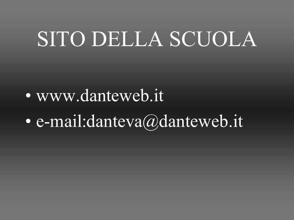SITO DELLA SCUOLA www.danteweb.it e-mail:danteva@danteweb.it