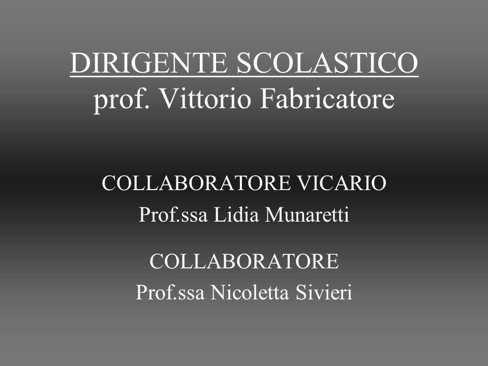 DIRIGENTE SCOLASTICO prof.
