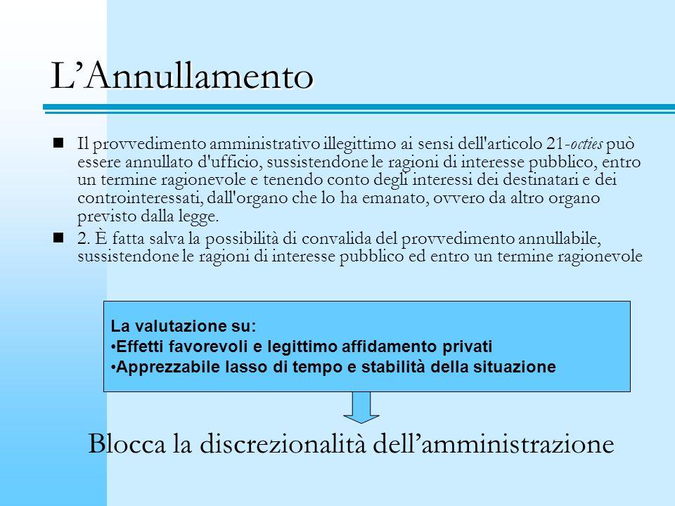 LAnnullamento Il provvedimento amministrativo illegittimo ai sensi dell'articolo 21-octies può essere annullato d'ufficio, sussistendone le ragioni di
