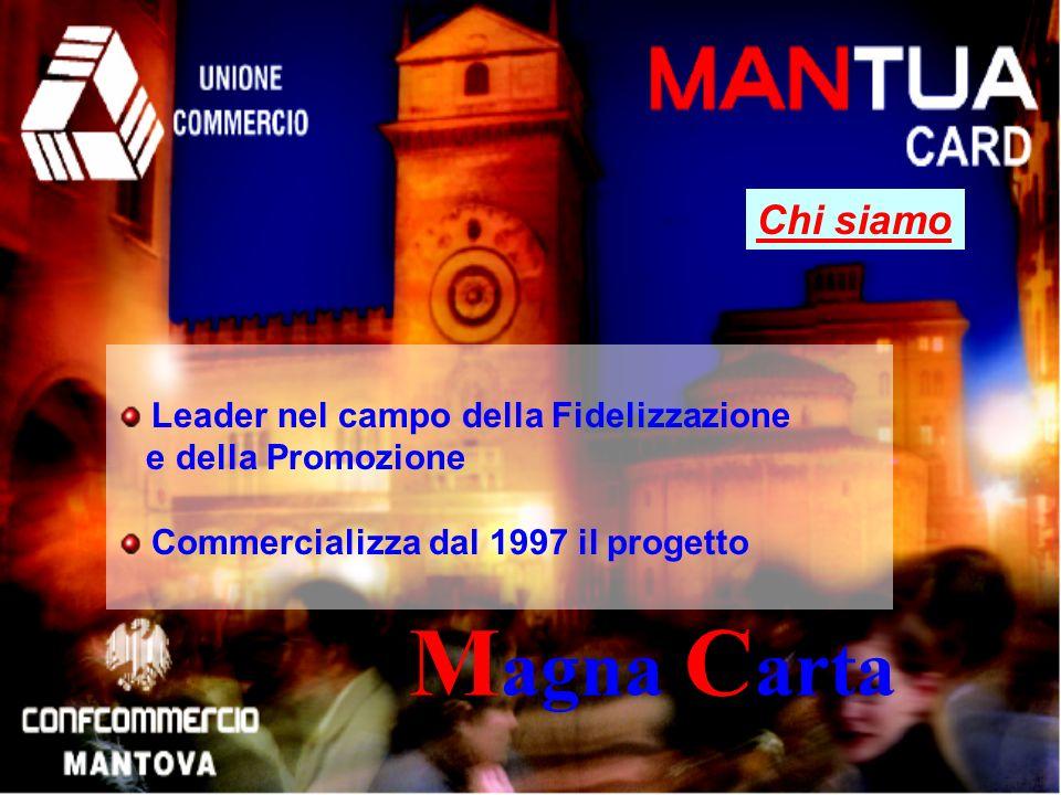 Chi siamo M agna C arta Leader nel campo della Fidelizzazione e della Promozione Commercializza dal 1997 il progetto