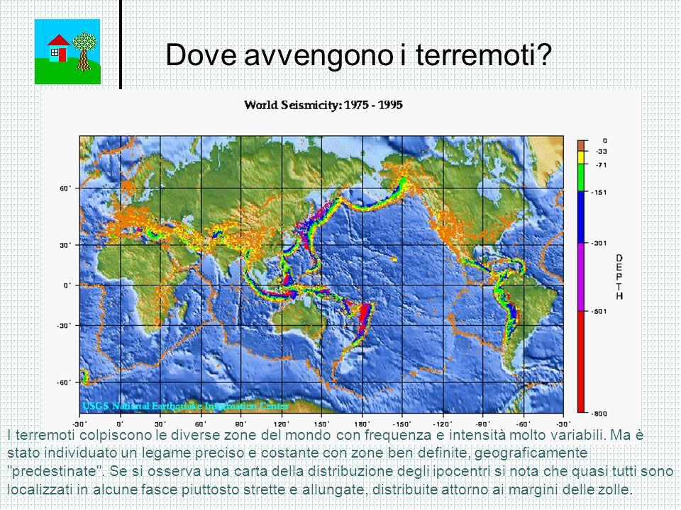 Dove avvengono i terremoti? I terremoti colpiscono le diverse zone del mondo con frequenza e intensità molto variabili. Ma è stato individuato un lega