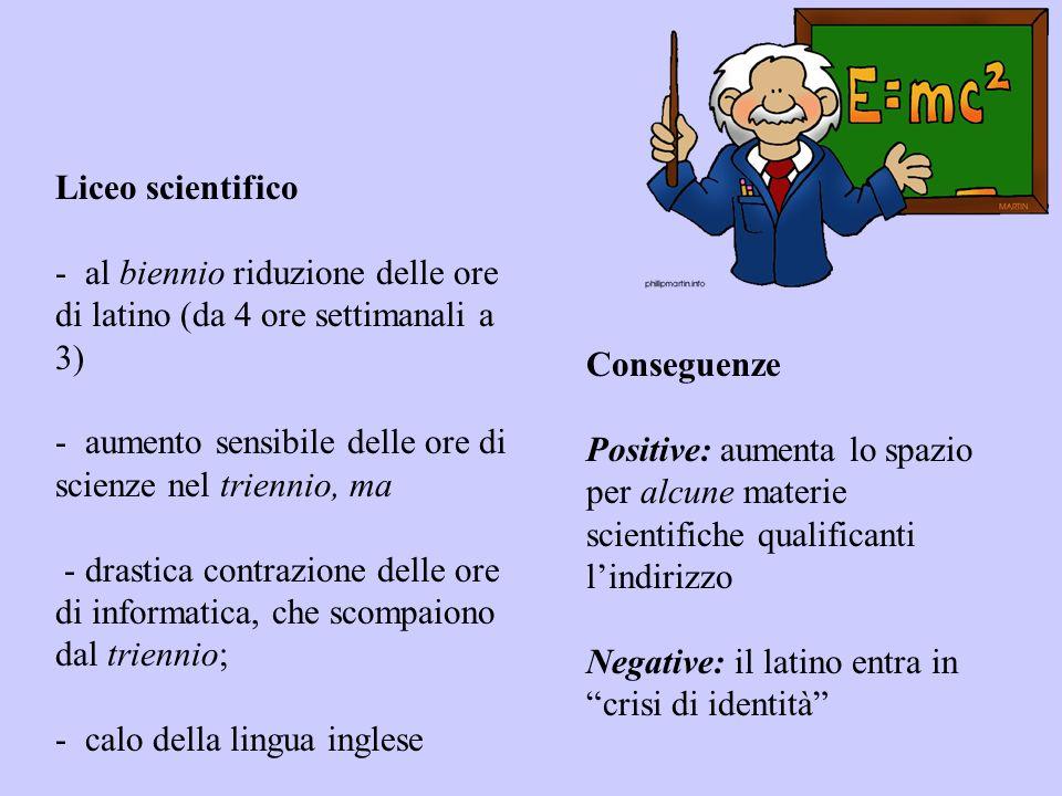Liceo delle scienze applicate E una via di mezzo tra uno scientifico e un tecnico, ma: senza il latino, -con meno matematica, poca informatica -nessuna seconda lingua.
