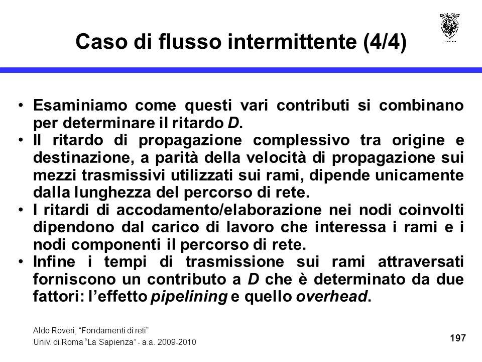 Aldo Roveri, Fondamenti di reti Univ. di Roma La Sapienza - a.a.