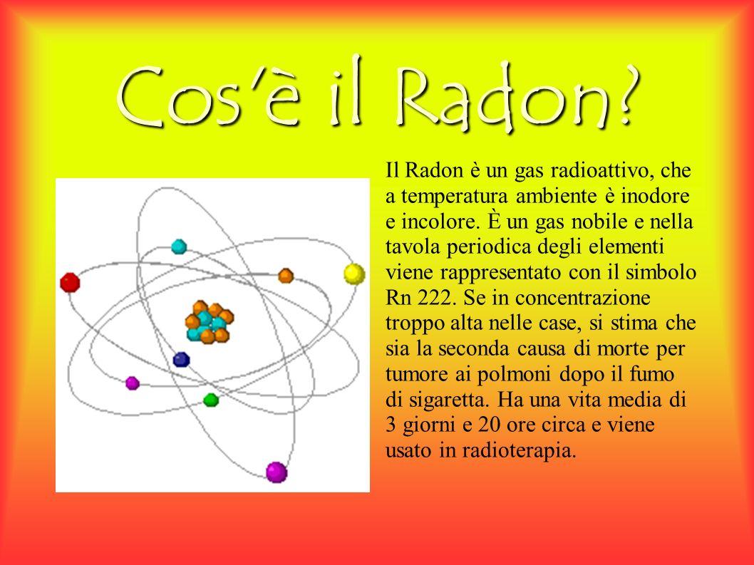 Cos è il Radon. Il Radon è un gas radioattivo, che a temperatura ambiente è inodore e incolore.