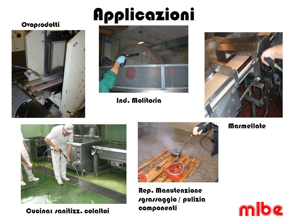 Applicazioni Ovoprodotti Ind. Molitoria Marmellate Cucina: sanitizz.