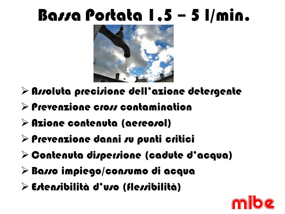 Bassa Portata 1,5 – 5 l/min.