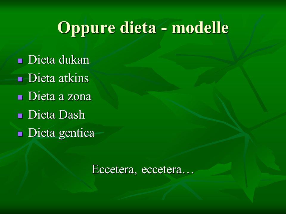 Oppure dieta - modelle Dieta dukan Dieta dukan Dieta atkins Dieta atkins Dieta a zona Dieta a zona Dieta Dash Dieta Dash Dieta gentica Dieta gentica E