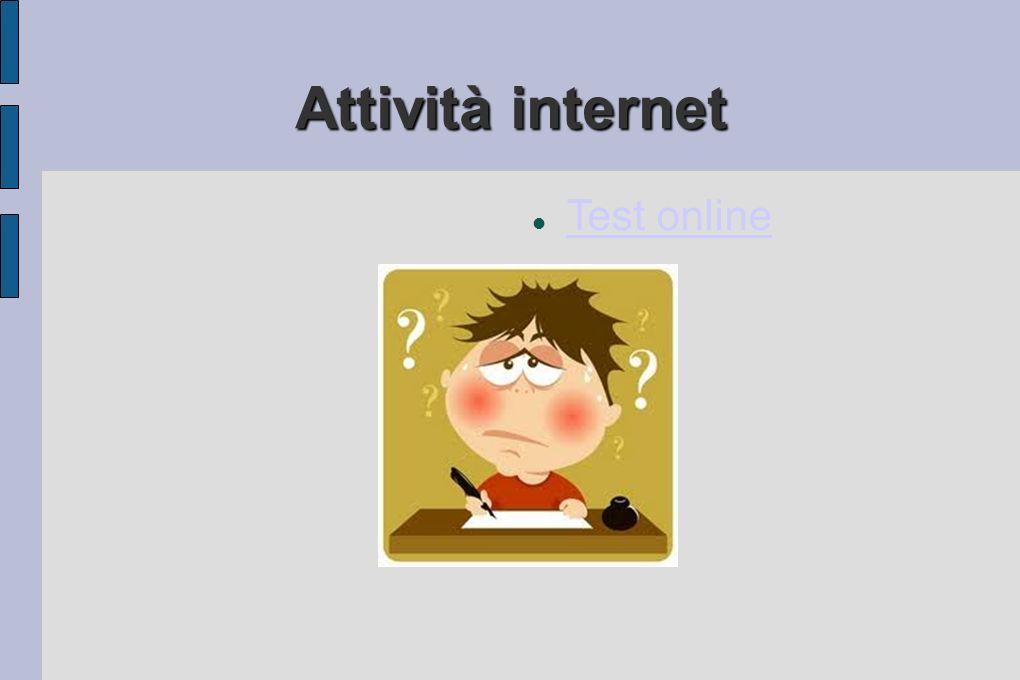 Attività internet Test online