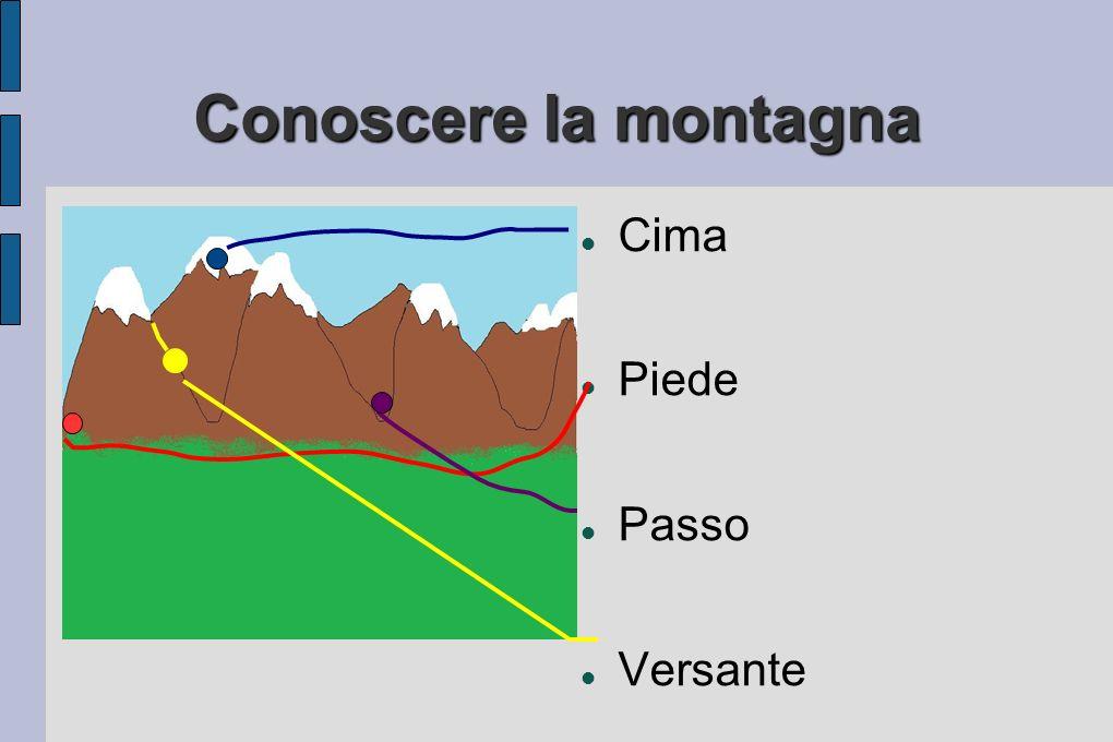 Conoscere la montagna Cima Piede Passo Versante