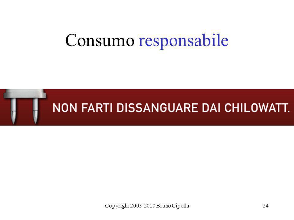 Copyright 2005-2010 Bruno Cipolla24 Consumo responsabile