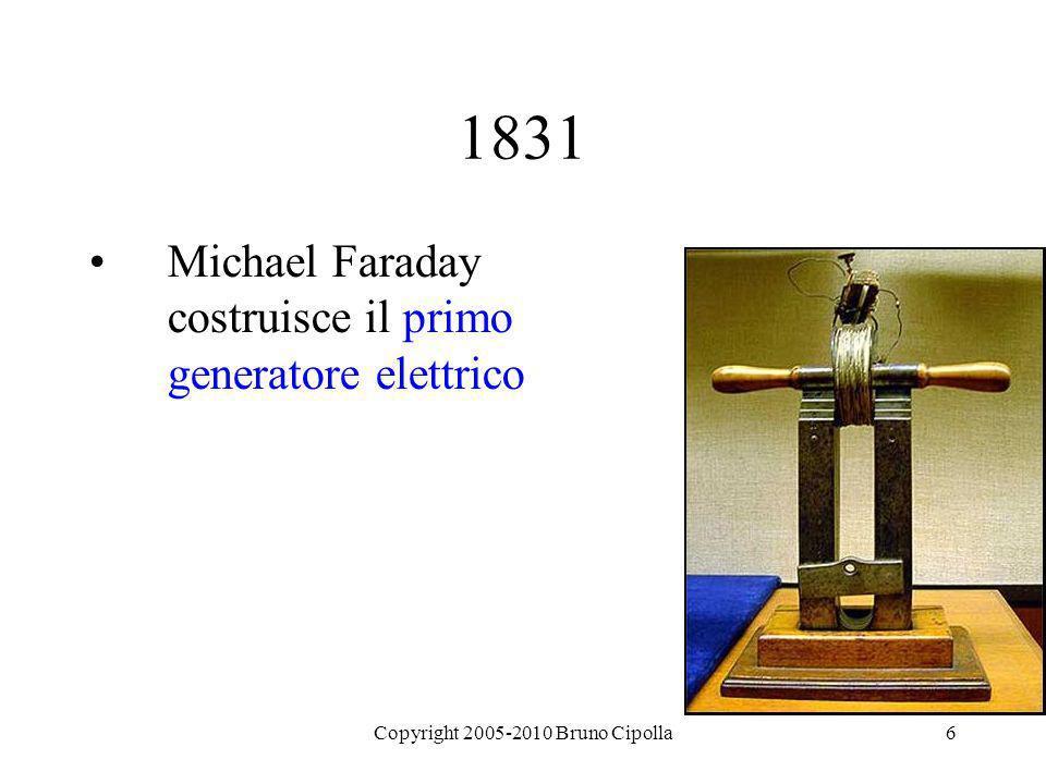 6 1831 Michael Faraday costruisce il primo generatore elettrico