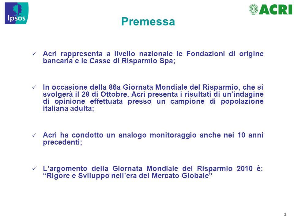 84 Nota La preoccupazione sembra intaccare, seppur marginalmente, anche lo storico sentimento europeista di molti Italiani.