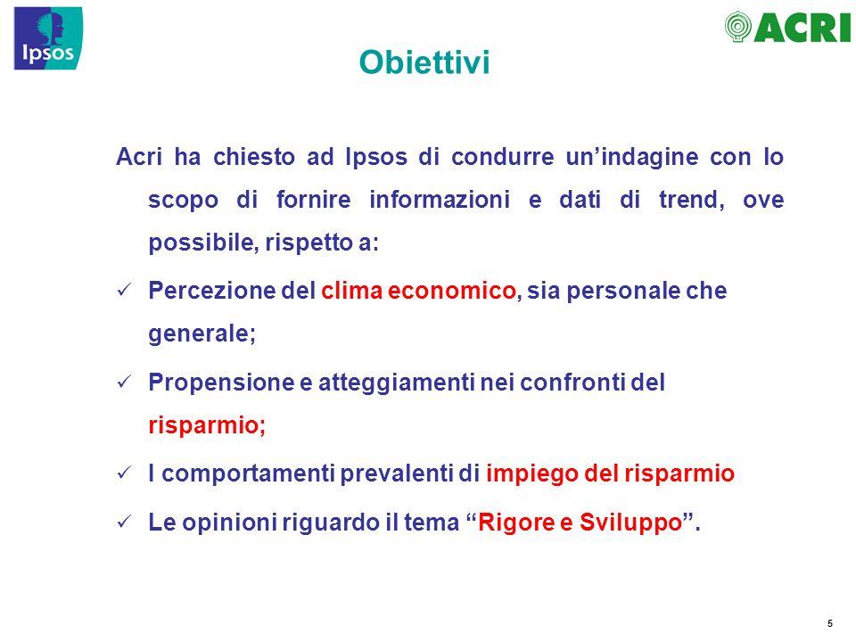 96 Nota In uno scenario come quello finora tracciato, gli Italiani come guardano al binomio rigore (sia nei conti pubblici che nel privato) e sviluppo.