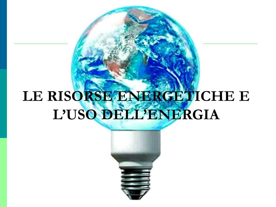 LE RISORSE ENERGETICHE E LUSO DELLENERGIA