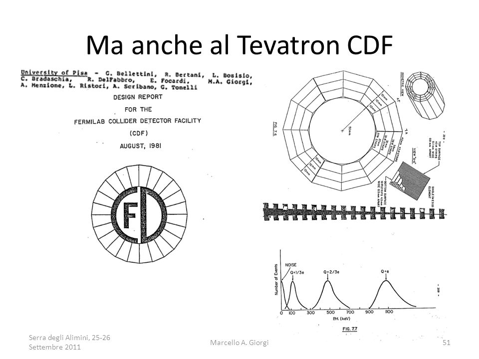 Ma anche al Tevatron CDF Serra degli Alimini, 25-26 Settembre 2011 51Marcello A. Giorgi