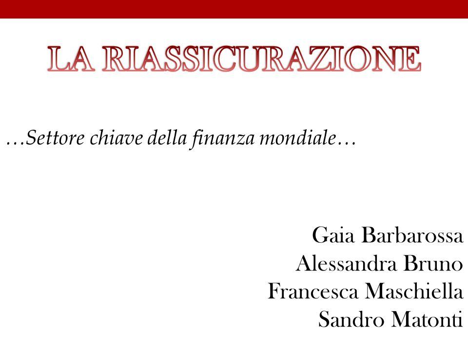 Gaia Barbarossa Alessandra Bruno Francesca Maschiella Sandro Matonti …Settore chiave della finanza mondiale…