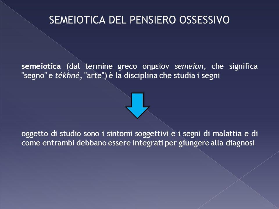 semeiotica (dal termine greco σημε ον semeion, che significa
