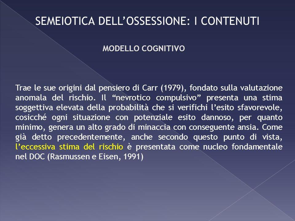 nevrotico compulsivo Trae le sue origini dal pensiero di Carr (1979), fondato sulla valutazione anomala del rischio. Il nevrotico compulsivo presenta