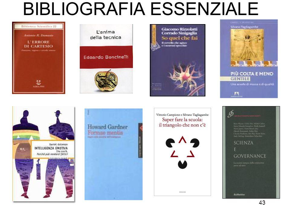 43 BIBLIOGRAFIA ESSENZIALE