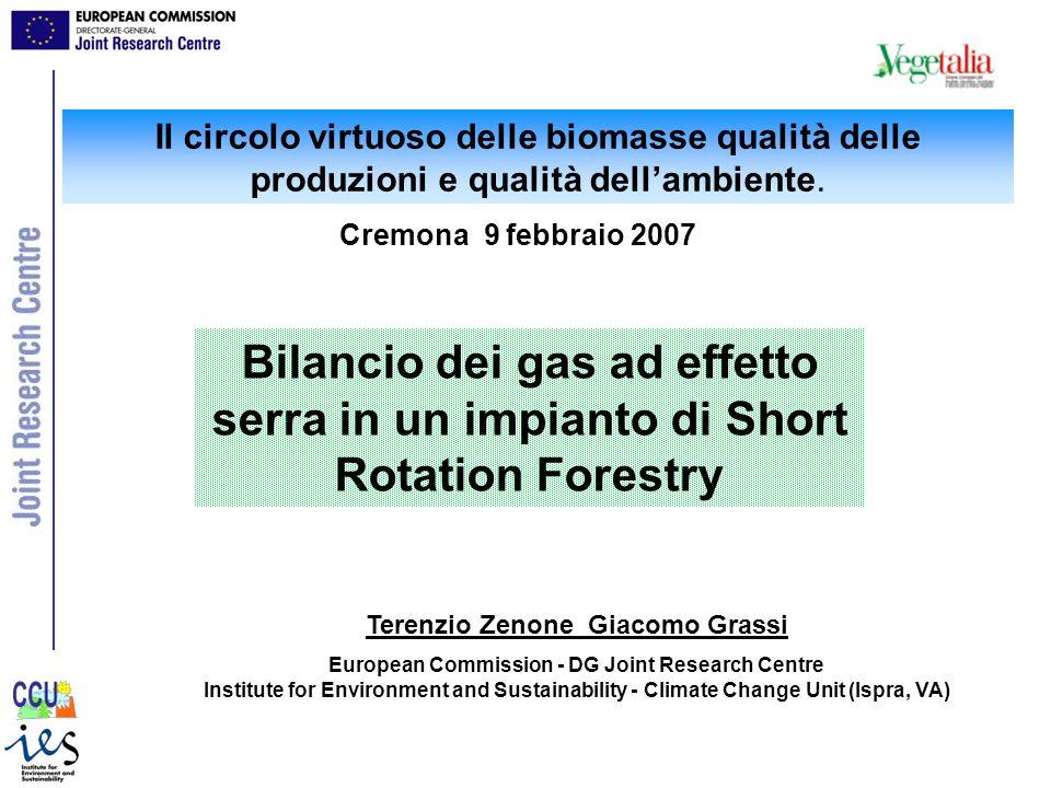 Il circolo virtuoso delle biomasse qualità delle produzioni e qualità dellambiente. Cremona 9 febbraio 2007 Bilancio dei gas ad effetto serra in un im