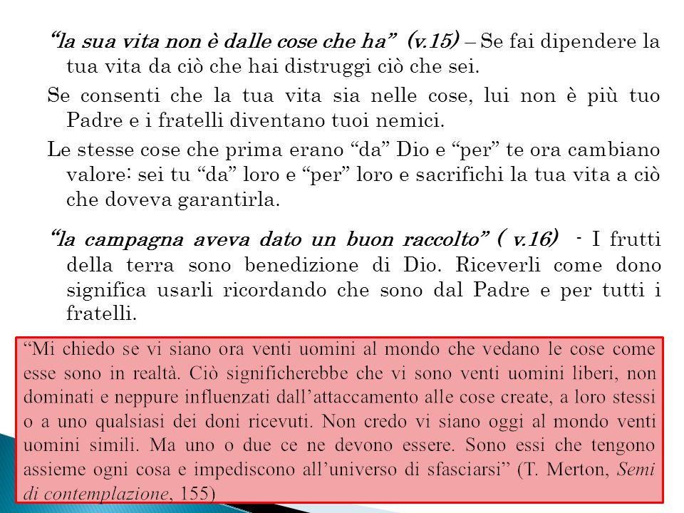 Che farò.(v. 17) - Questa domanda è molto cara a San Luca.