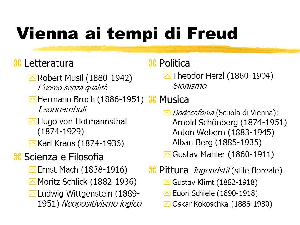 Vienna ai tempi di Freud zLetteratura yRobert Musil (1880-1942) Luomo senza qualità yHermann Broch (1886-1951) I sonnambuli yHugo von Hofmannsthal (18