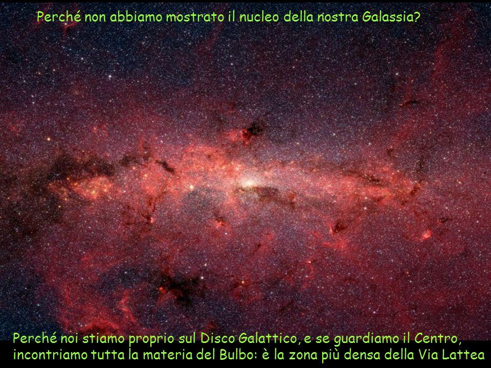 Perché non abbiamo mostrato il nucleo della nostra Galassia? Perché noi stiamo proprio sul Disco Galattico, e se guardiamo il Centro, incontriamo tutt