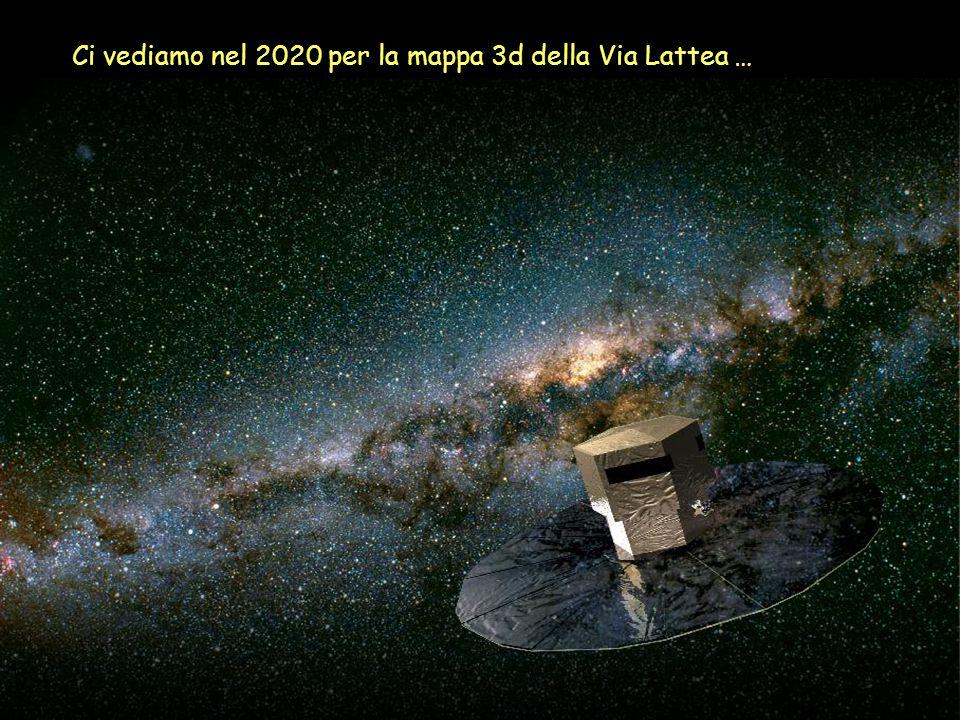 Ci vediamo nel 2020 per la mappa 3d della Via Lattea …