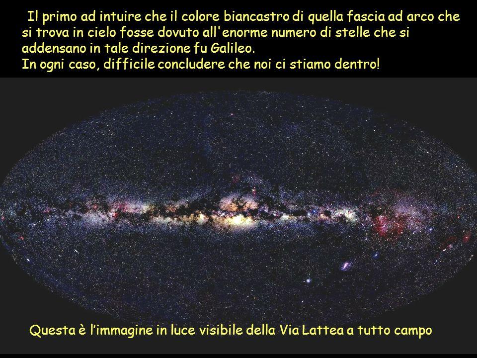 Il primo ad intuire che il colore biancastro di quella fascia ad arco che si trova in cielo fosse dovuto all'enorme numero di stelle che si addensano