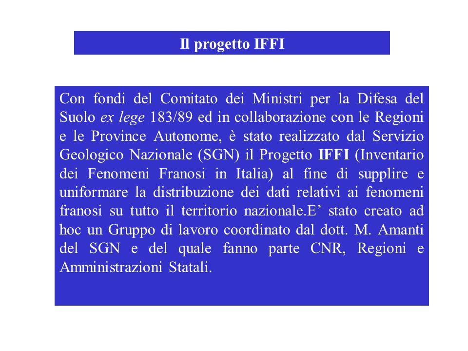 Con fondi del Comitato dei Ministri per la Difesa del Suolo ex lege 183/89 ed in collaborazione con le Regioni e le Province Autonome, è stato realizz