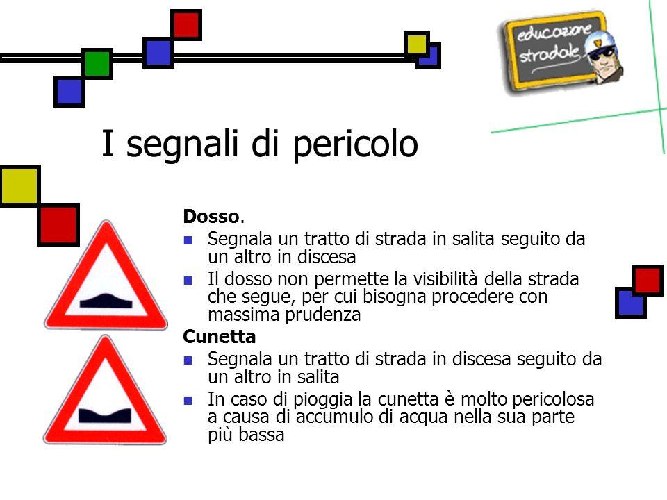 I segnali di pericolo Altri pericoli Indica un tipo diverso di pericolo in genere indicato da un pannello integrativo sottostante