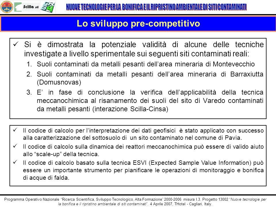 Programma Operativo Nazionale Ricerca Scientifica, Sviluppo Tecnologico, Alta Formazione 2000-2006 misura I.3. Progetto 13002 Nuove tecnologie per la