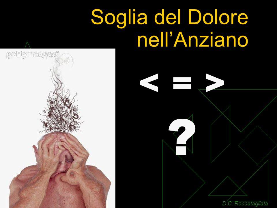 Soglia del Dolore nellAnziano ? D.C. Roccatagliata