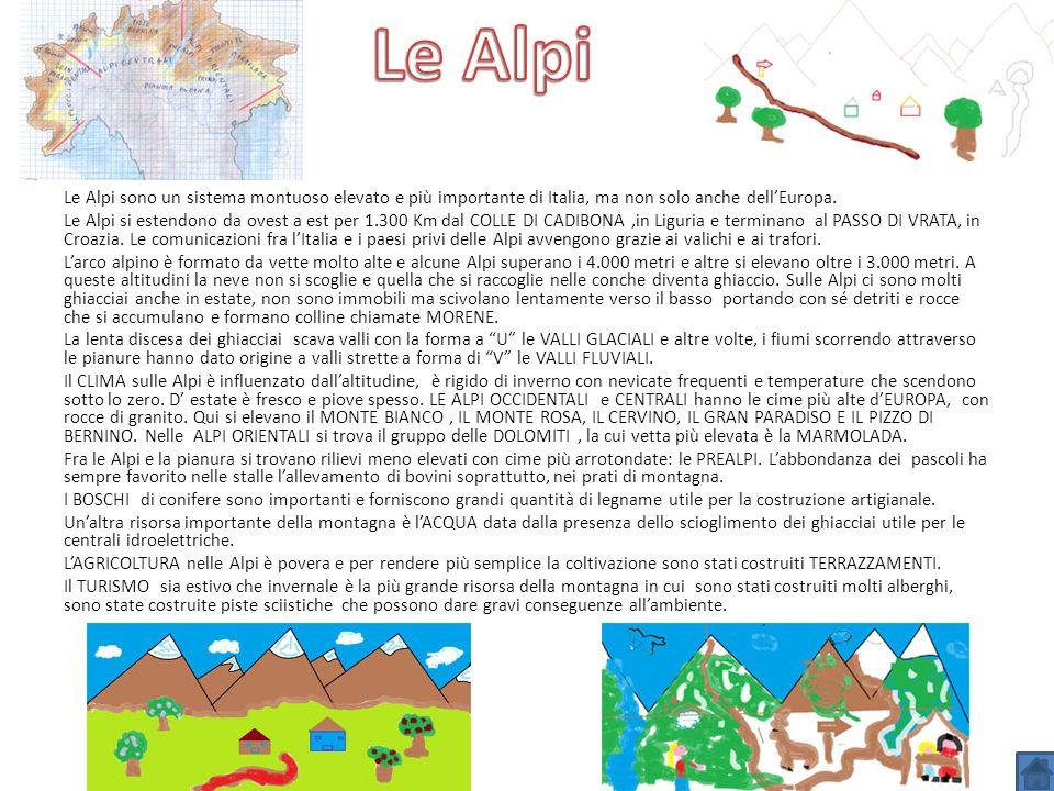 Le Alpi sono un sistema montuoso elevato e più importante di Italia, ma non solo anche dellEuropa. Le Alpi si estendono da ovest a est per 1.300 Km da