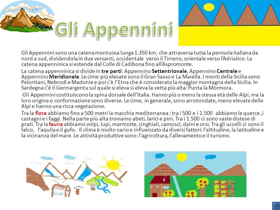 Gli Appennini sono una catena montuosa lunga 1.350 km, che attraversa tutta la penisola italiana da nord a sud, dividendola in due versanti, occidenta