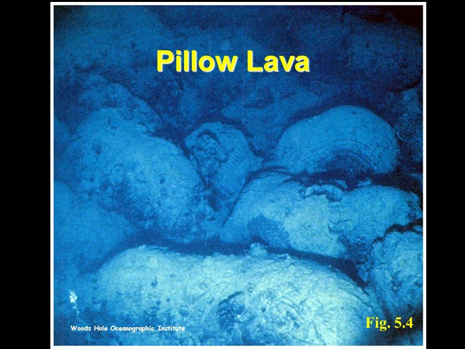 Woods Hole Oceanographic Institute Fig. 5.4 Pillow Lava